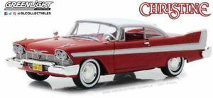 Greenlight-84071-Plymouth-Fury-Christine-Diecast-Modelo-Coche-Rojo-Blanco-1958-1-24th