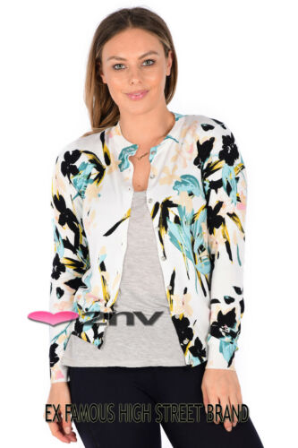 EX M/&S Cardigan Classic Collection Button Up Soft Touch Ladies Cardigan UK8-22.