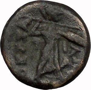 LARISSA-Thessaly-THESSALIAN-LEAGUE-196BC-Athena-Apollo-OWL-Greek-Coin-i43497