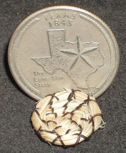 Miniature Native American Indian Bogulas Horse Hair Plate 1:12 Horsehair #5285