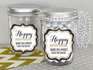 24 Personalized New Years Eve Mini Mason Jars Winter ...