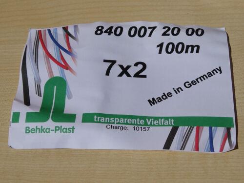 100m Lebensmittelschlauch 7x2 von Behka-Plast Made in Germany