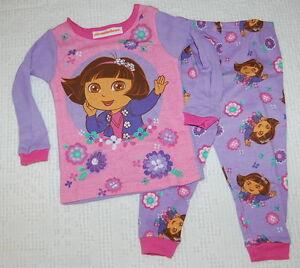 Dora The Explorer Girls 2 Piece Short Sleeve Pink Pajamas