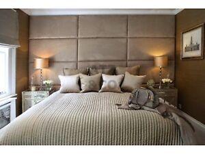 Designer Plush Velvet Headboard Upholstered Wall Panels