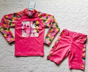 Girls-Long-Sleeve-Rash-Top-Bathers-Togs-UPF50-Swimmers-Swimwear-Swimsuit