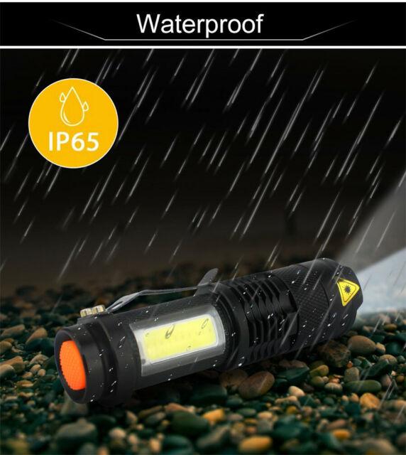 Tactical Flashlight 420 lm 7 W XML-Q5+COB 4 Mode Rugged Waterproof attaque Head