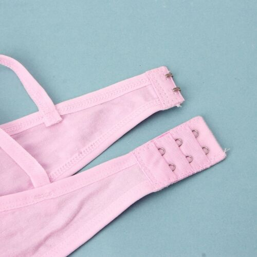 Teen Underwear Cotton Letter Print Bra for Young Girls for Yoga Sports Running