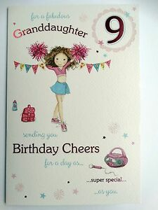 Image Is Loading Granddaughter Age 9 Today 9th Pom Design