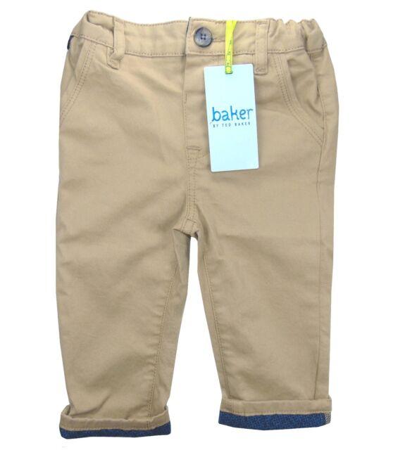 Ted Baker Baby Boy Chino Trousers Chinos Designer Brown Newborn 0-3 Months
