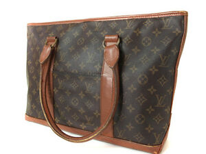 3d8d3cb72 Auth LOUIS VUITTON WEEKEND PM Monogram Canvas Tote Bag, Shoulder Bag ...