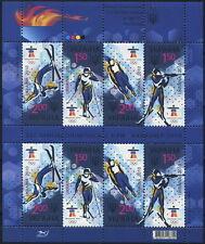 UKRAINE 2010 ** MNH Klb 1068-1071Zd SPORT Olympic Winter Games Vancouver