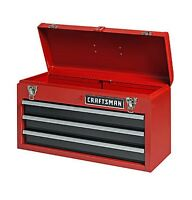 Craftsman 3 Drawer Portable Mechanic Tool Box Chest Organizer Cabinet Garage