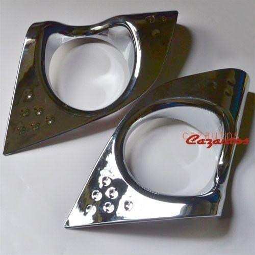 Chrome Front Fog Light Lamp Cover Trim Pair For Acura TSX 2008-2010