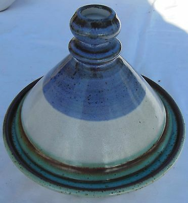 Céramique Vintage 60 - Plat & Couvercle ( Tajine ? ) Signées La Roue Vallauris Zacht En Licht