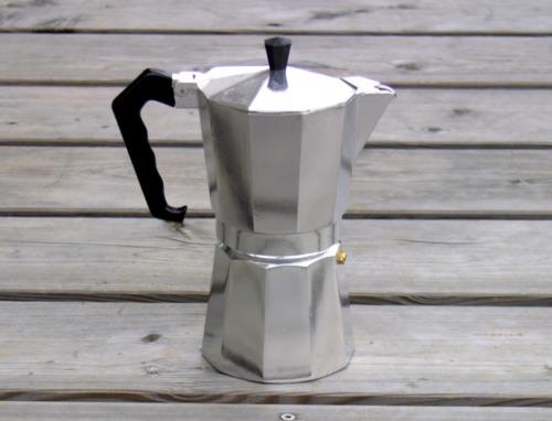 Espresso Maschine 9 Tassen Alu