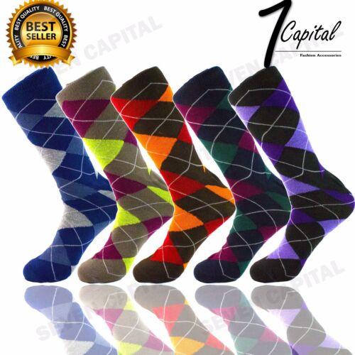 12 Pairs Dozen Men Funky Fashion Colorful Pattern Casual  Dress Socks Size 10-13