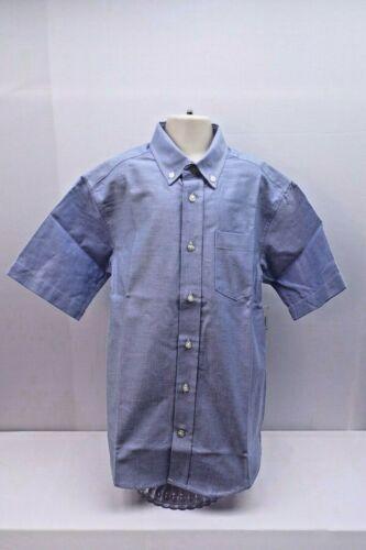 NWT IZOD® Short-Sleeve Oxford Shirt Boys Medium Size 10//12 Blue or White