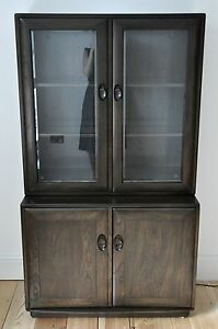 Vintage-Retro-60-039-s-style-Ercol-ercol-Windsor-display-cabinet-shelving-unit