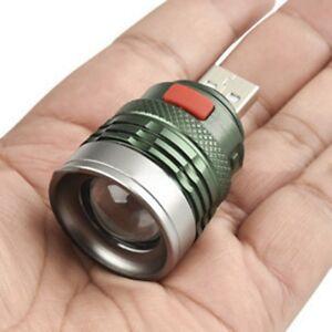Aluminium Alloy USB LED Power Bank Flashlight Head Lamp 3W Extension Light Torch