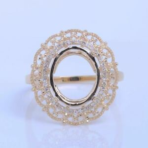 12x10mm-Oval-Natural-Diamonds-Solid-10k-Yellow-Gold-Engagement-Semi-Mount-Ring
