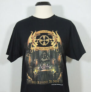 STONE-MAGNUM-Holy-Blessings-To-None-T-Shirt-2016-R-I-P-Records-size-M-NEW