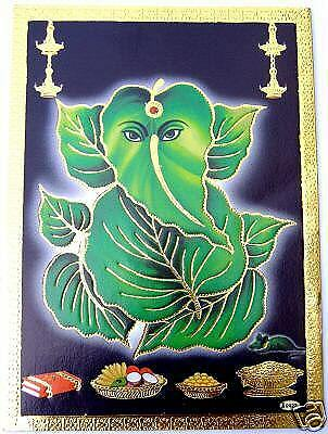 27 BILD GANESHA Hinduismus Prägedruck INDIEN Altarbild Vorlage Tattoo