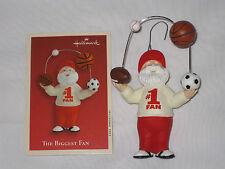 2002 Hallmark The Biggest Fan Santa Claus Keepsake Christmas Ornament