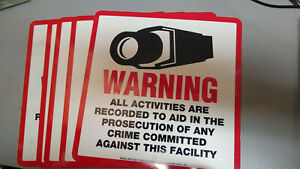 Camera-Video-Warning-Sign-Plastic-10-5x10-5-inches-STV-204
