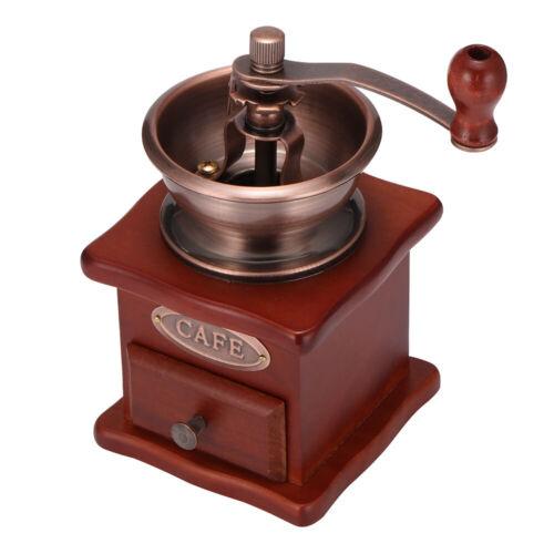 Manual Coffee Bean Grinder Adjustable Coarseness Wooden Hand Held Mill Compact