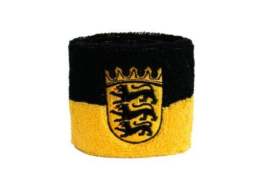 Schweißband Fahne Flagge Deutschland Baden-Württemberg 7x8cm Armband für Sport
