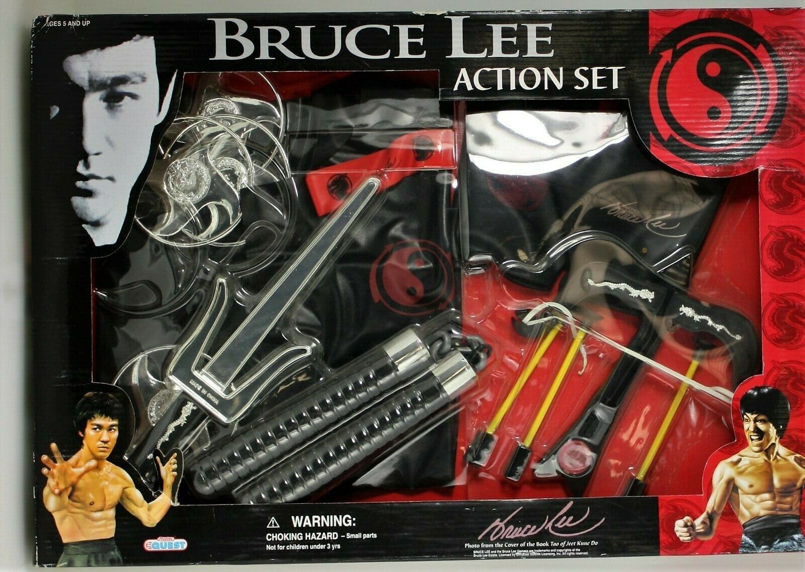 Bruce Lee Deluxe Weapon Set Martial Arts Toy Set Manley Toy Quest