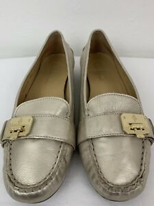 58ec6ef24607 Cole haan air metallic gold leather Size 8 1 2 ballet flats shoes ...