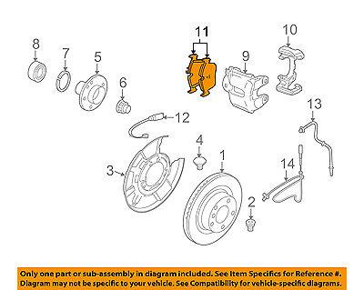 BMW OEM 11-13 335is Brake-Rear Pads 34216790762