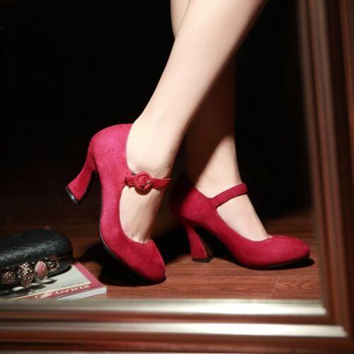 Mary Janes Elegant Women/'S p Kitten Heels Strappy Ladies High Heels Shoes Pumps