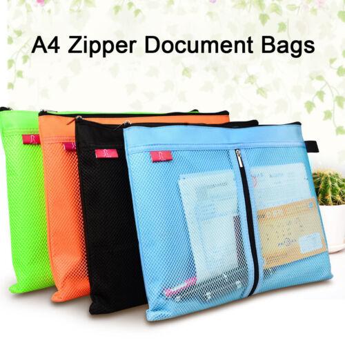Dokumentenmappe A4 Dokumententasche Sammelmappe verschiedene Farben Zipper Bags