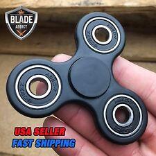 BLACK Tri-Spinner Fidget Toy Ceramic EDC Hand Finger Spinner Desk Focus NEW ADHD