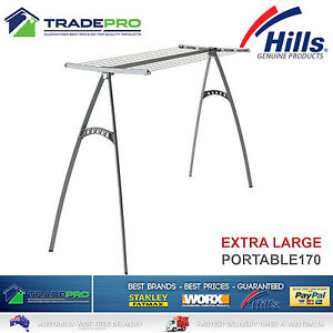 Image Is Loading Hills Clothesline Portable 170 New Model 17m Pro