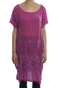 Johnny-Was-Eyelet-Purple-Kobi-Long-Short-Sleeve-Tunic-New-Boho-Chic-C25318