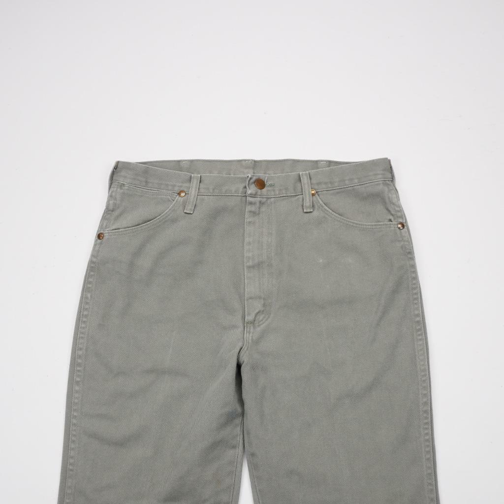 WRANGLER Vtg USA 936SAG Slim Fit Jeans Cowboy Cut Grey Denim Mens 35x36