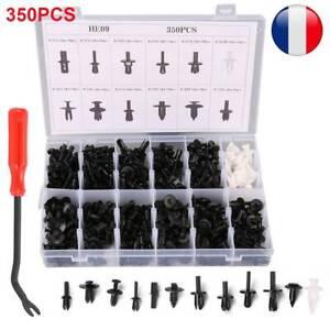 350Pcs-Rivets-Fixation-de-Type-Poussoir-Clip-Plastique-Pare-boue-Voiture-Auto-FR
