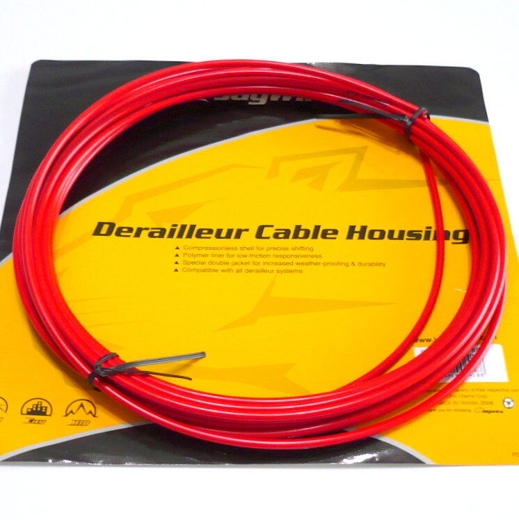 Jagwire 25 feet Shift Cable Housing, Fully Lubricated inner Tube, RED, F21