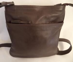 Brown Leather Shoulder Bag Handbag
