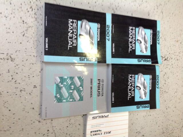 2007 Toyota Prius Service Shop Repair Workshop Manual Set