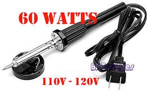 New 60W IRON SOLDERING GUN Electric Welding Solder 110V - 120V Home Shop Gun 91044232069