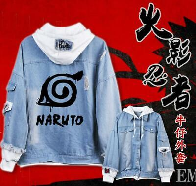 Naruto Cosplay Anime Manga Kapuzen Jeans Jacke Hoodie Hooded Coat Jacket Aromatischer Charakter Und Angenehmer Geschmack