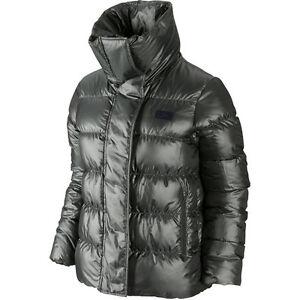 Details zu Nike Uptown 550 Winterjacke Damen Grau Schwarz 683902 010