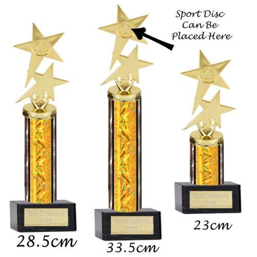 STELLA POLARE Trophy 3 Taglie hanno il tuo logo aggiunta al disco rotondo INCISIONE GRATUITA