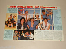 WALL STREET CRASH BAND clipping articolo fotografia 1983 AT21 MELODIA ITALIANA