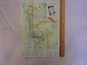 Nyc Subway Map Paper.Details About 1939 New York City Nyc Subway Map Rare Worlds Fair Nywf Roadmap A S Beck