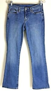Lucky-Brand-Jeans-Flare-Leg-Womens-Low-Rise-Medium-Wash-Size-6-28-30-034-X-30-034